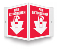 "Fire Extinguisher - 3D 6"" x 5"" - Safety Panel - Projection Sign"