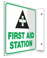 "First Aid Station - 90D 8"" x 8"" - Safety Panel - Projection Sign"