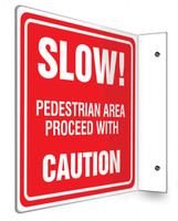 "Slow Caution Safety - 90D 8"" x 8"" - Safety Panel - Projection Sign"