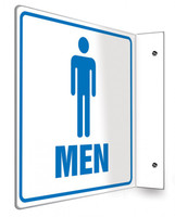 "Men - 90D 8"" x 8"" - Safety Panel - Projection Sign"