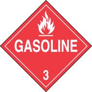 DOT Placard: Hazard Class 3 - Gasoline