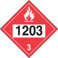 4-Digit DOT Placards: Hazard Class 3 - 1203 (Gasoline)