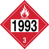 4-Digit DOT Placards: Hazard Class 3 - 1993 (Flammable Liquid)