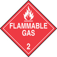 DOT Placard: Hazard Class 2 - Gases (Flammable Gas)