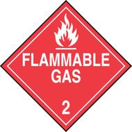DOT Placard: Hazard Class 2 - Gases (Flammable Gas)