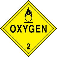 DOT Placard: Hazard Class 2 - Gases (Oxygen)