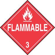 DOT Placard: Hazard Class 3 - Flammable Liquids (Flammable)