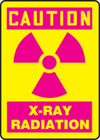 OSHA Caution Safety Sign: X-Ray Radiation