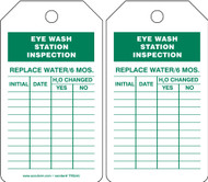 Eyewash Inspection Tags And Status Record Tags - Eye Wash