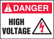 ANSI Danger Electrical Safety Label: High Voltage