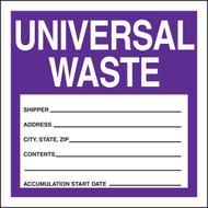 Safety Label: Universal Waste