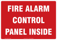Fire Alarm Signs: Fire Alarm Control Panel Inside