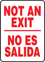 Bilingual Spanish Safety Sign - Not An Exit / No Es Salida