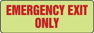 Glow-In-The-Dark Safety Sign: Emergency Exit Only