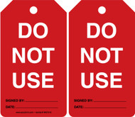 Equipment Status Safety Tag: Do Not Use