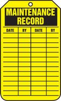 Equipment Status Safety Tag: Maintenance Record