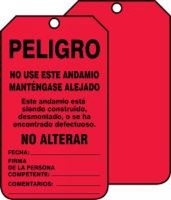 Scaffold Status Safety Tag: Danger- Do Not Use This Scaffold- Keep Off
