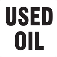 Drum & Container Labels: Used Oil (Black On White)