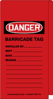 Wrap N' Stick™ Danger Tag: Barricade Tag