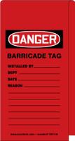 Wrap N' Stick™ Danger Tag: Barricade Tag