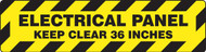 Slip-Gard™ Step-Style Floor Sign: Electrical Panel - Keep Clear 36 Inches