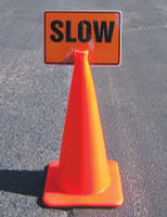 Cone Top Warning Sign: Lane Closed