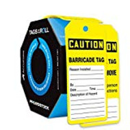 OSHA Caution Tags By-The-Roll: Barricade Tag