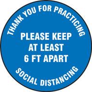 Slip-Gard Floor Sign: Thank You For Practicing Social Distancing