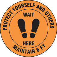 Slip-Gard Floor Sign: Protect Your Self And Others Maintain 6 FT