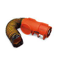"""Allegro 9536-50 8"""" Axial DC Plastic Blower w/ Canister & 50' Ducting, 12V"""