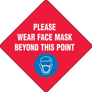 Slip-Gard Floor Sign: Please Wear Face Mask Beyond This Point