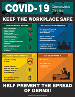 "Keep The Workplace Safe - 22"" x 17"" - Laminated Safety Sign"