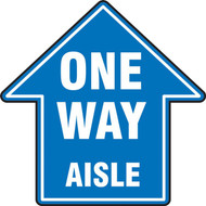 Slip-Gard Floor Sign: One Way Aisle