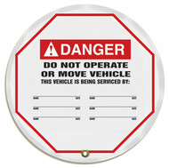 "Accuform KDD731 - ANSI Danger 24"" Steering Wheel Message Cover: Do Not Operate Or Move Vehicle"