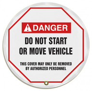 "Accuform KDD726 - ANSI Danger 20"" Steering Wheel Message Cover: Do Not Start Or Move Vehicle"