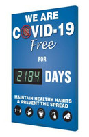 Digi-Day® 3 Electronic Safety Scoreboard: We Are COVID-19 Free For xxxx Days Maintain Healthy Habits & Prevent The Spread