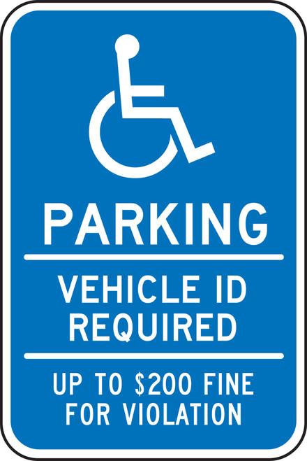 FRA201RA Handicapped Parking Sign Minnesota