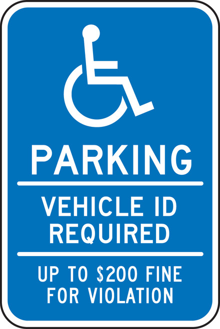 FRA201RA Handicapped Parking Sign Minnesota