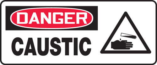Caustic Sign (W/Graphic) - .040 Aluminum - 7'' X 17''