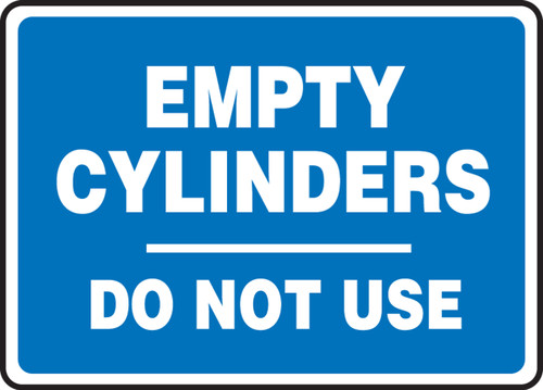 MCPG530 Empty Cylinders do not use sign