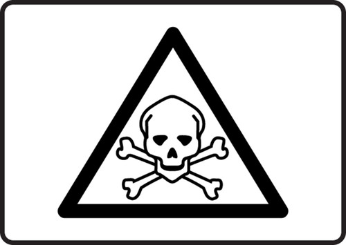 MCHL504 XF Toxic Poison Graphic Safety Sign