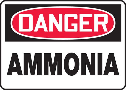Danger - Ammonia - Dura-Plastic - 7'' X 10''