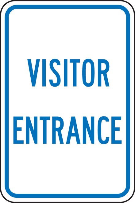 FRP274RA Visitor Entrance Sign