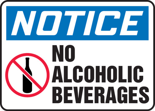 Notice - No Alcoholic Beverages Sign