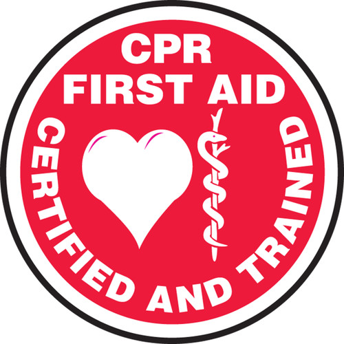 CPR First Aid Certified And Trained Helmet Decals