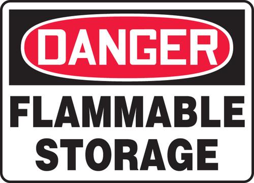 Danger - Flammable Storage - Adhesive Dura-Vinyl - 10'' X 14''
