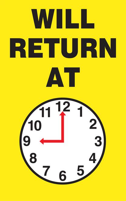 MCPM501 Will return at (clock) sign