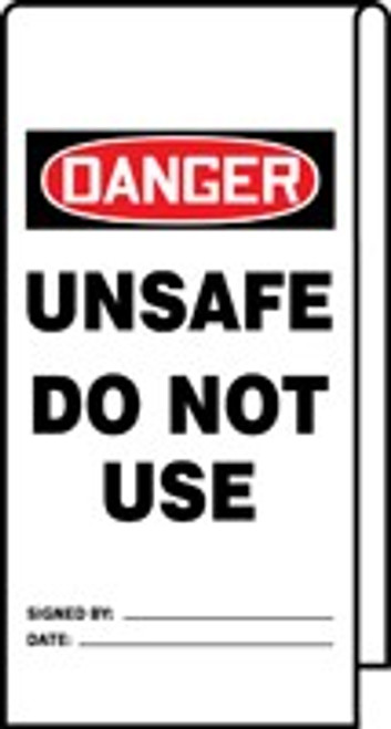 Danger Unsafe Do Not Use Wrap n Stick Tag