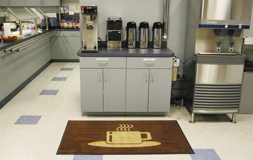 Message Floor Mat - Coffee