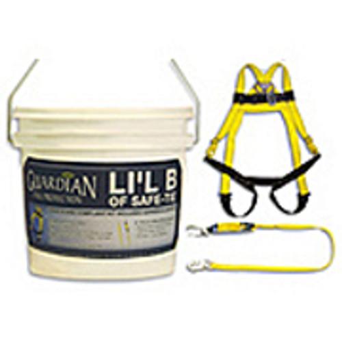 Li'l B of Safe-Tie- HUV (01101), 6' Single Leg Lanyard (01220) and Nylon Bag (00765)
